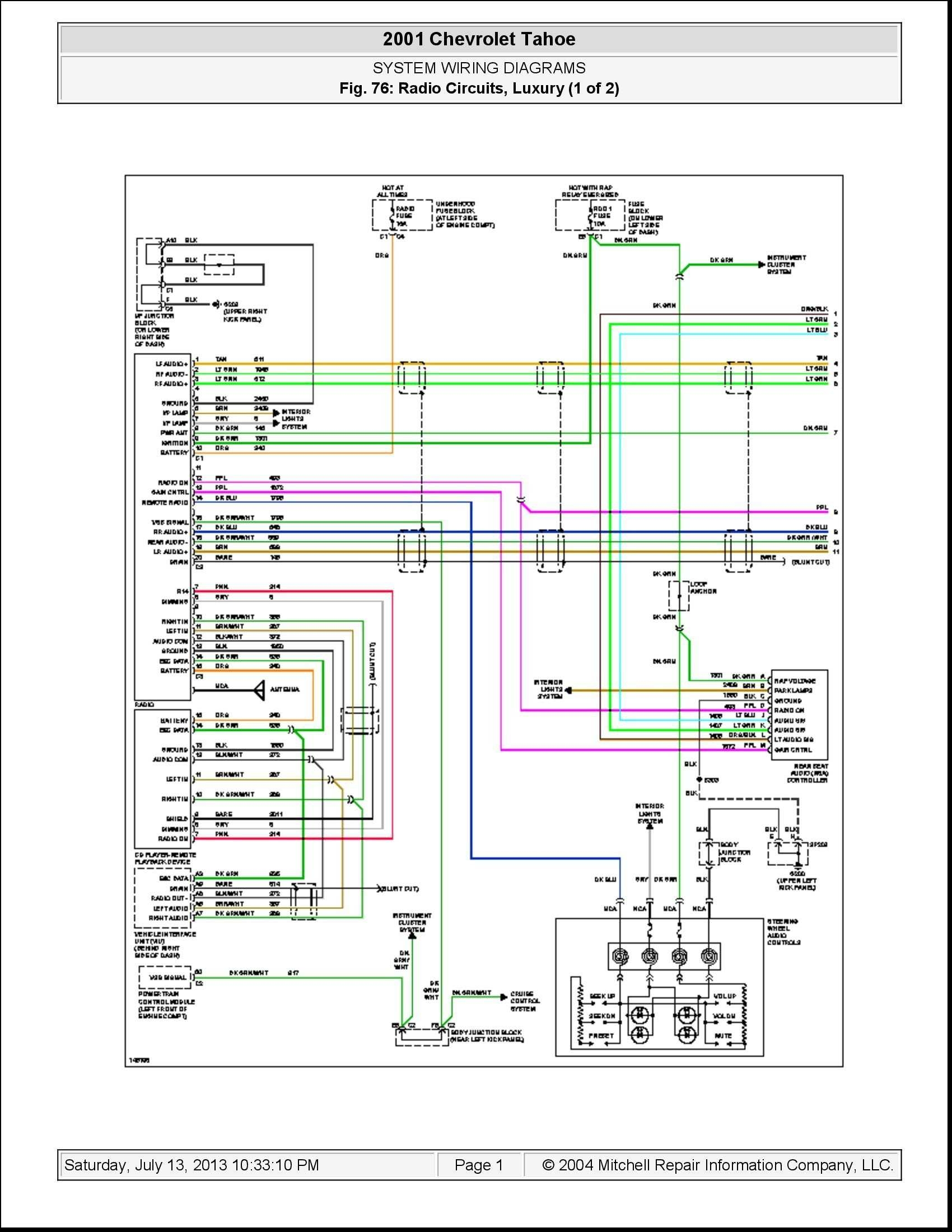 2005 Chevy Silverado Radio Wiring Harness Diagram | Free ... on