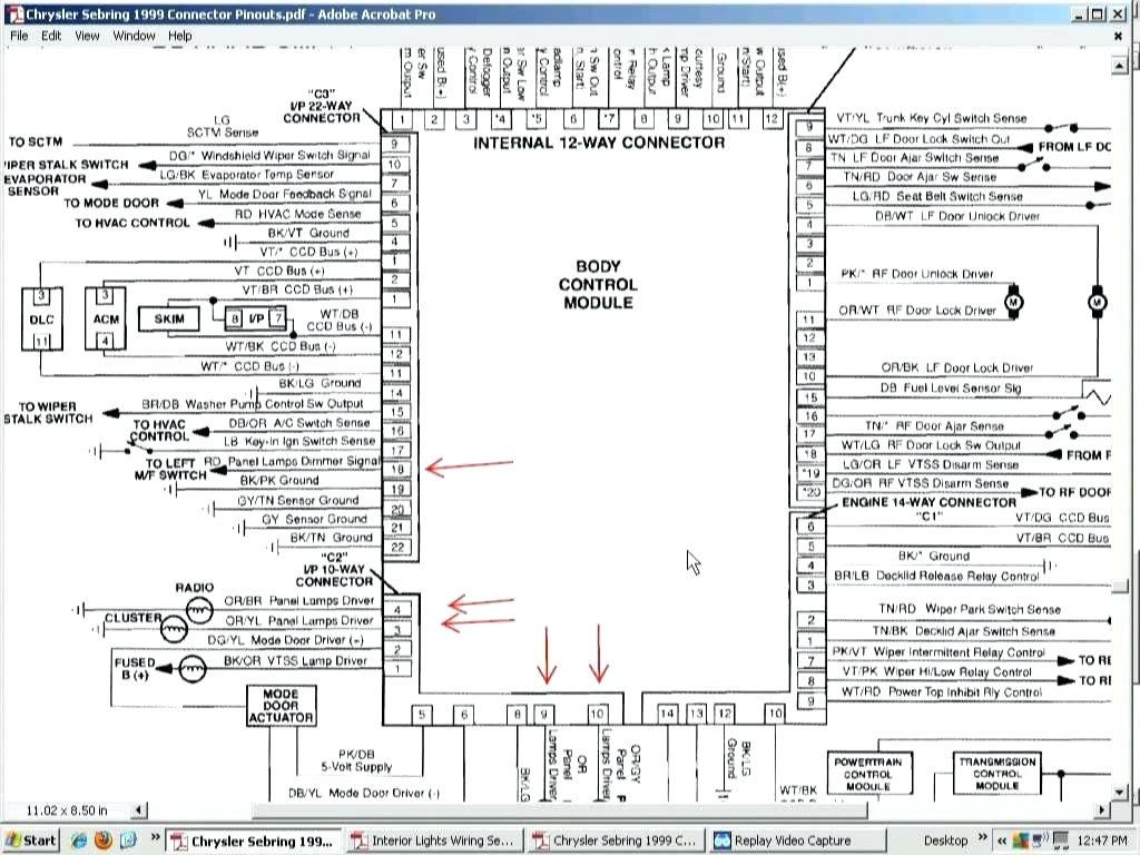 2005 Chrysler Sebring Radio Wiring Diagram
