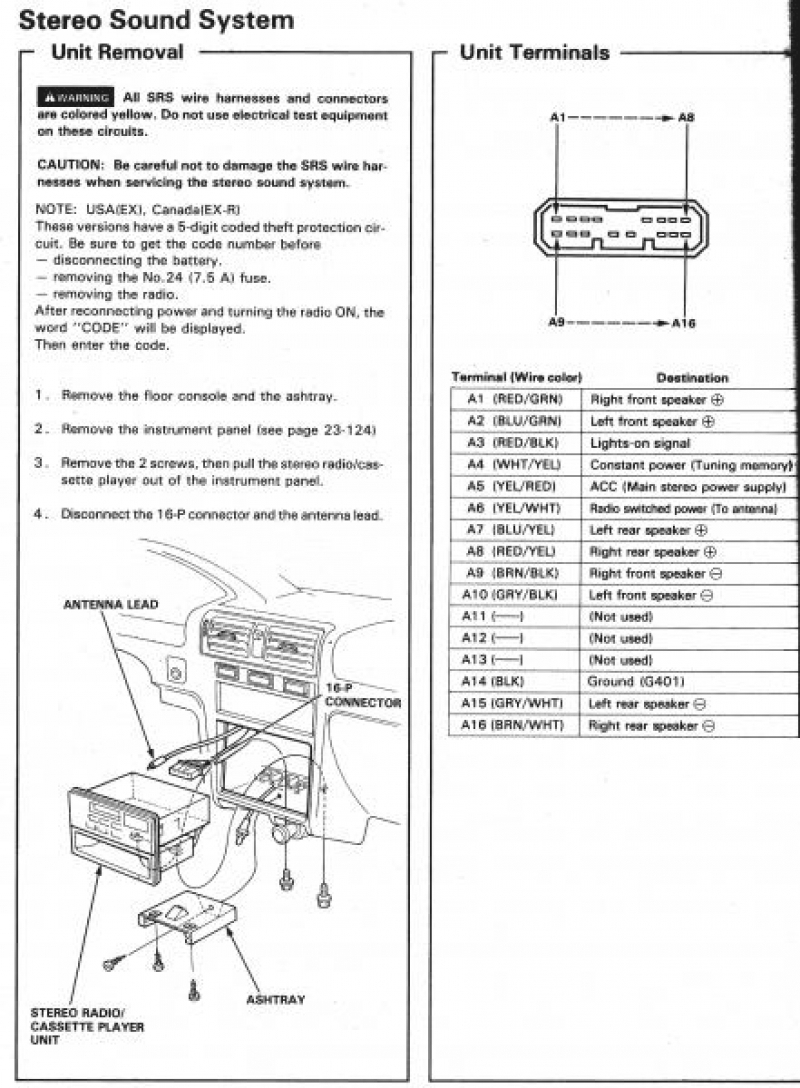 2005 Honda Element Stereo Wiring Diagram | Free Wiring Diagram
