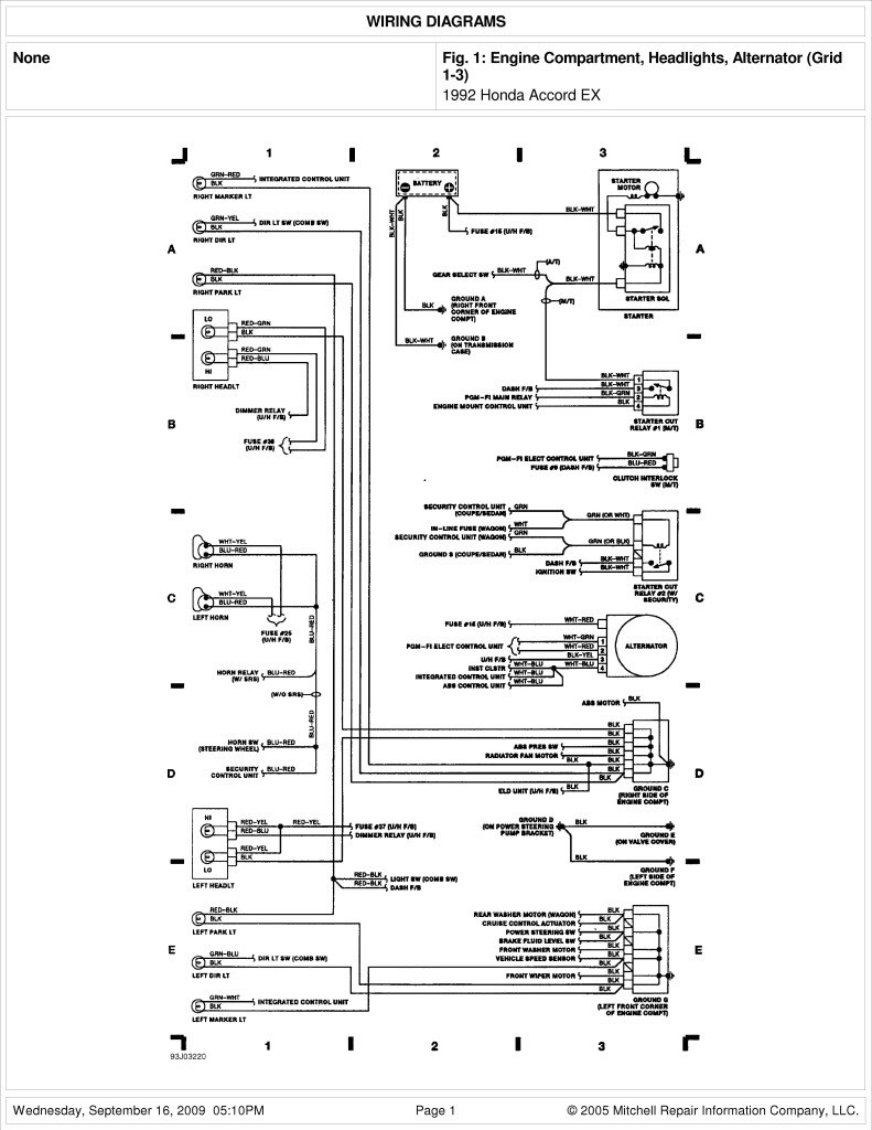 2005 Honda Element Stereo Wiring Diagram | Free Wiring Diagram on