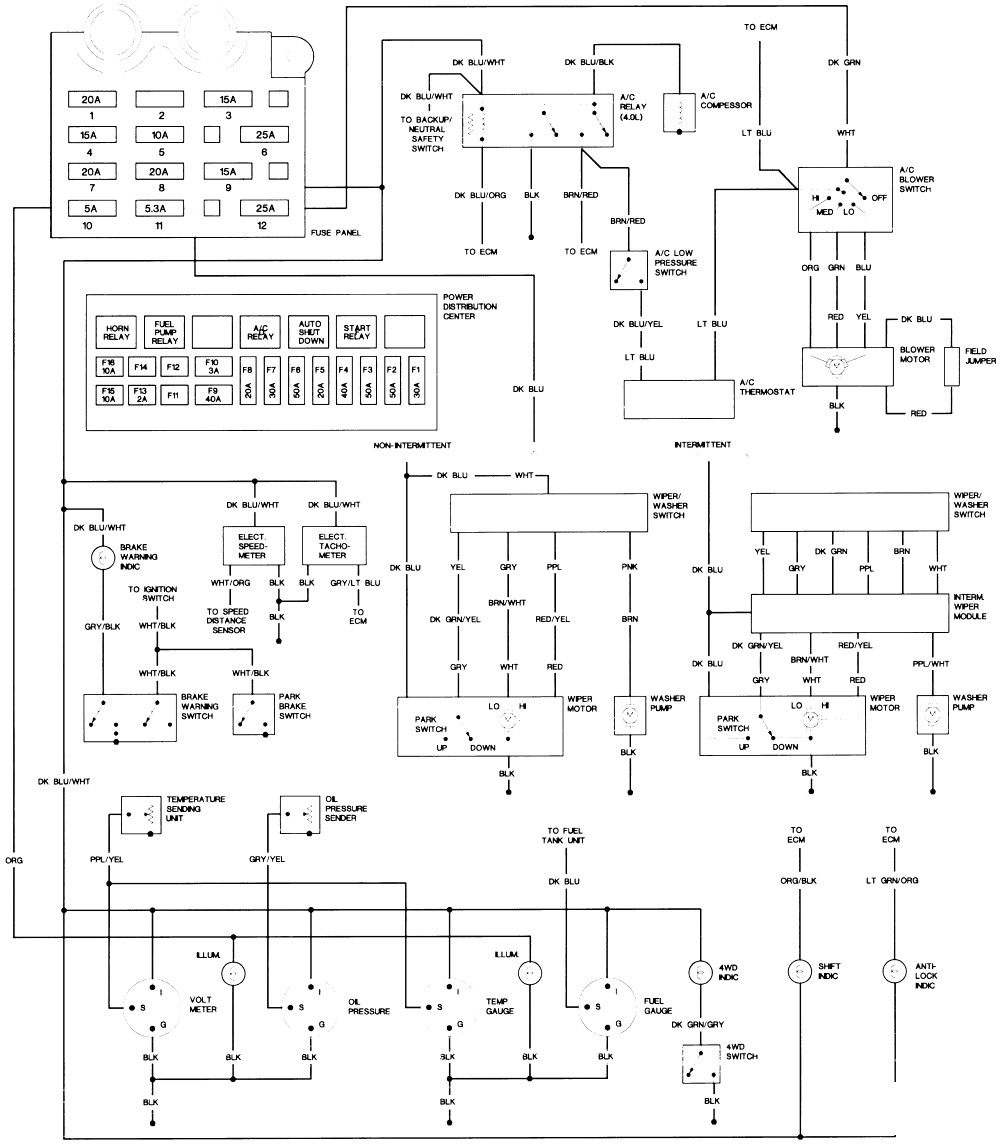 Wiring Diagram 2000 Jeep Wrangler Sahara - Wiring Diagrams ... on