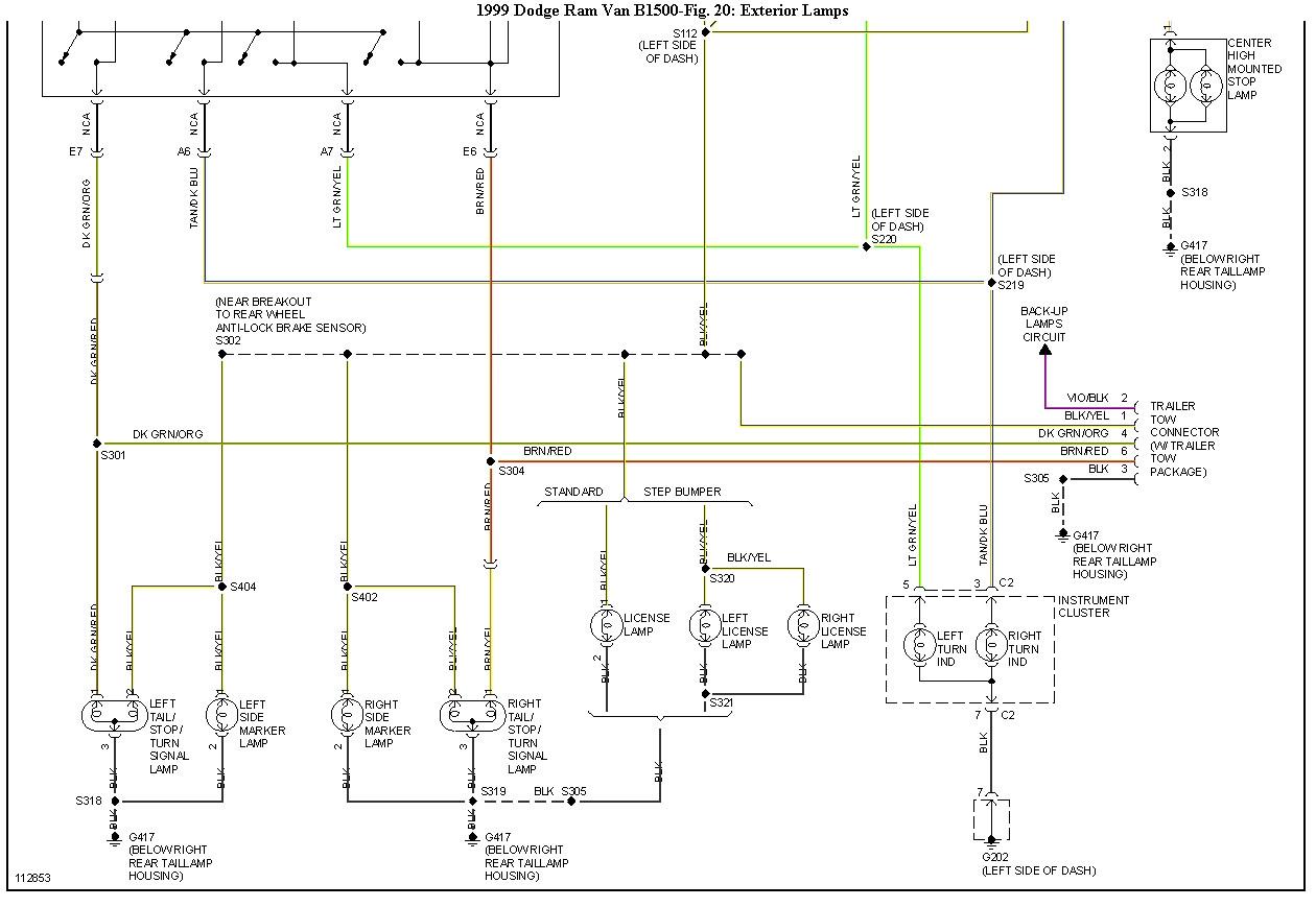 2007 dodge ram 1500 brake light wiring diagram Download-99 Dodge Ram 2500 Wiring Diagram Electrical Drawing Wiring Diagram • 20-m
