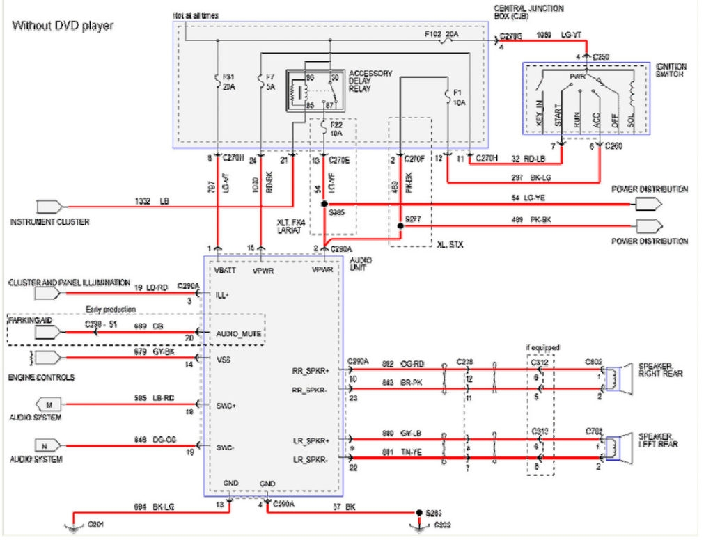 2001 ford f350 stereo wiring diagram 2008 ford f250 radio wiring diagram | free wiring diagram #6