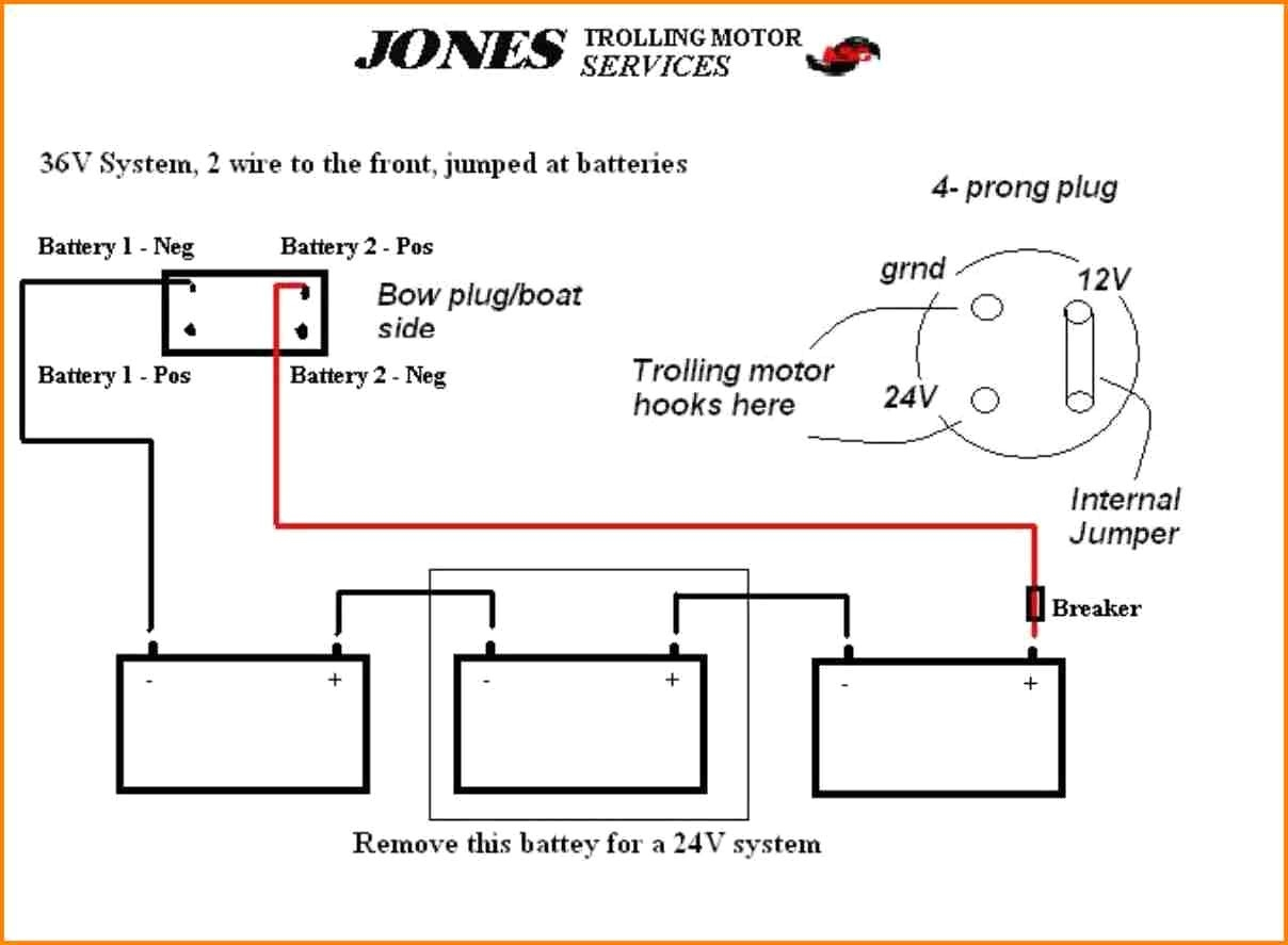 24v trolling motor wiring diagram Collection-5 12 24 Volt Trolling Motor Wiring Diagram Car Cable 3-l