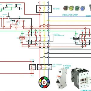 3 Phase Motor Contactor Wiring Diagram - Wiring Diagram Kontaktor Best Circuit Diagram Contactor Best 3 Phase Motor Starter Wiring 8h