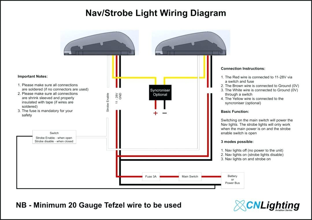 3 Wire Led Strobe Light Wiring Diagram