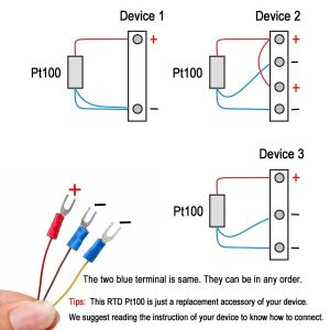 "3 Wire thermocouple Wiring Diagram - Amazon Crocsee Rtd Pt100 Temperature Sensor Probe 3 Wires 2m Cable thermocouple 58 572°f 50 300°c 1 2"" Npt Thread Industrial & Scientific 13q"