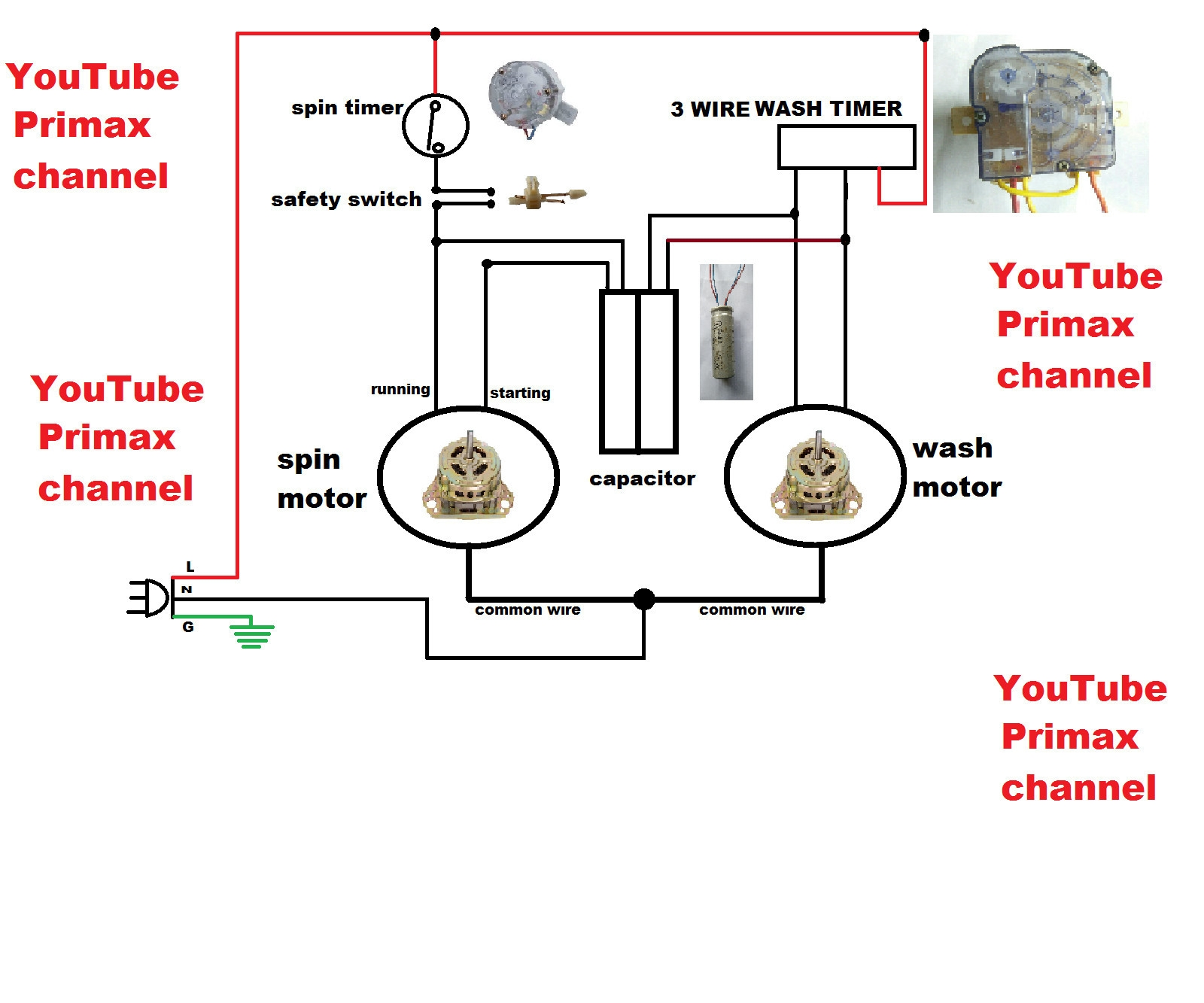 3 wire washing machine motor wiring diagram Download-Wiring Diagram for Washing Machine Fresh 3 Wier Timer Diagram Connection Simple Washing Machine Wiring 1-j
