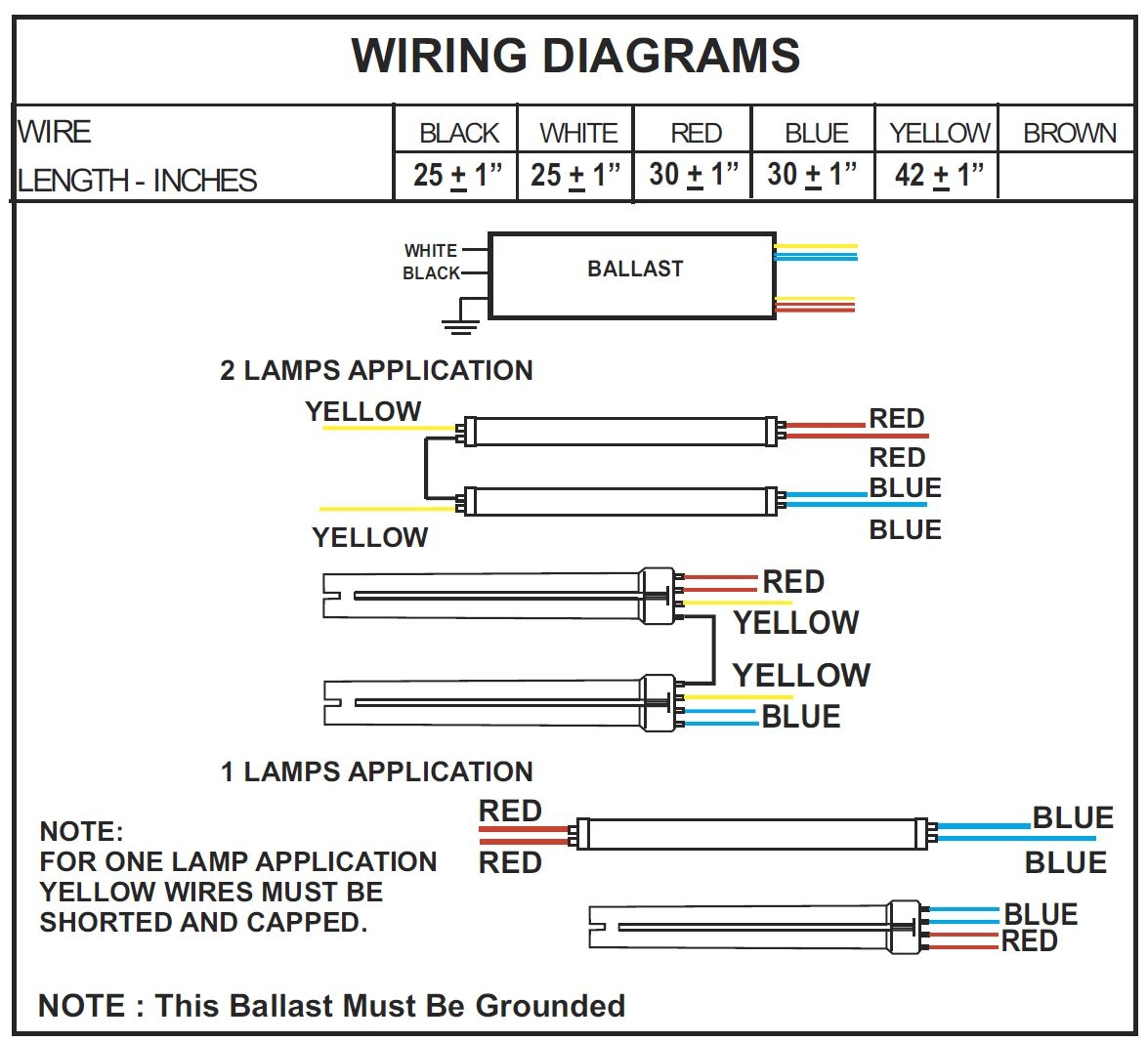 Wiring Diagram For 8 Foot 4 Lamp T8 Ballast - Wiring Diagram Table on