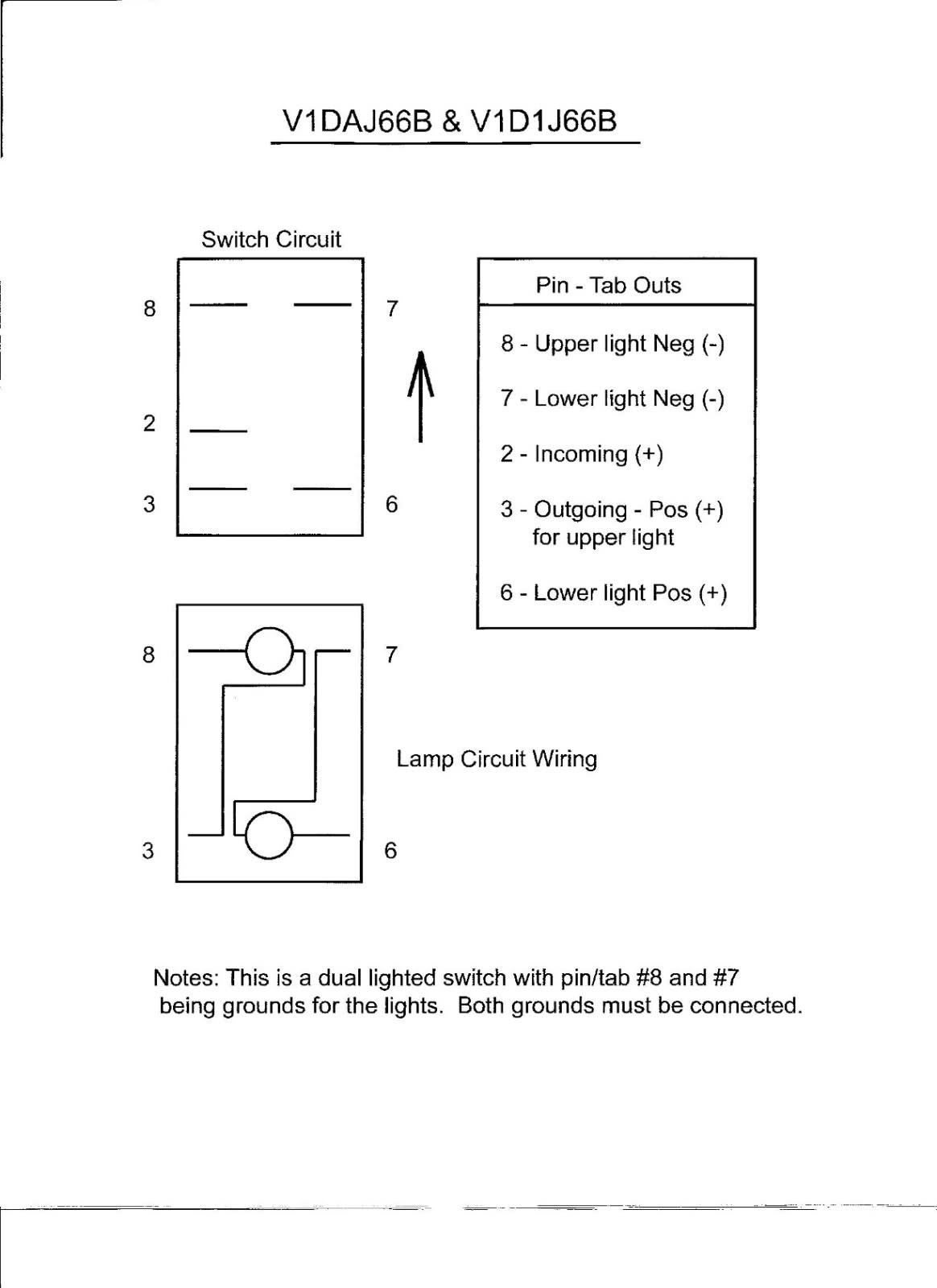 4 Pin Rocker Switch Wiring Diagram