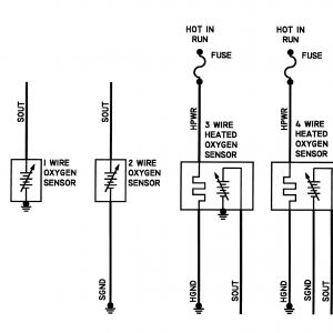 4 Wire Oxygen Sensor Wiring Diagram | Free Wiring Diagram Universal Oxygen Sensor Wiring Diagram W Three Wire Gauge on