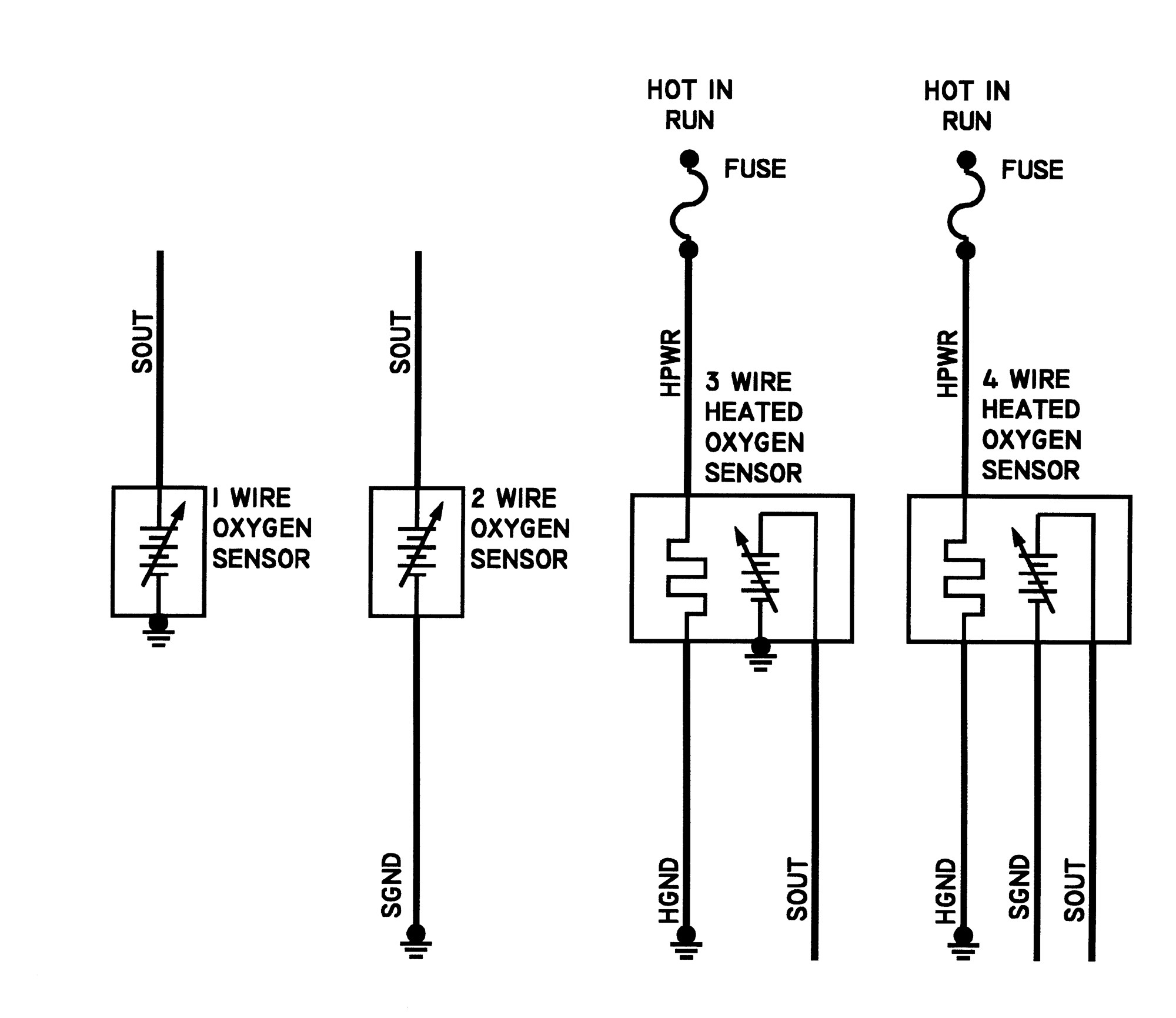 Universal Oxygen Sensor Wiring Diagram. Coil And Distributor ... on