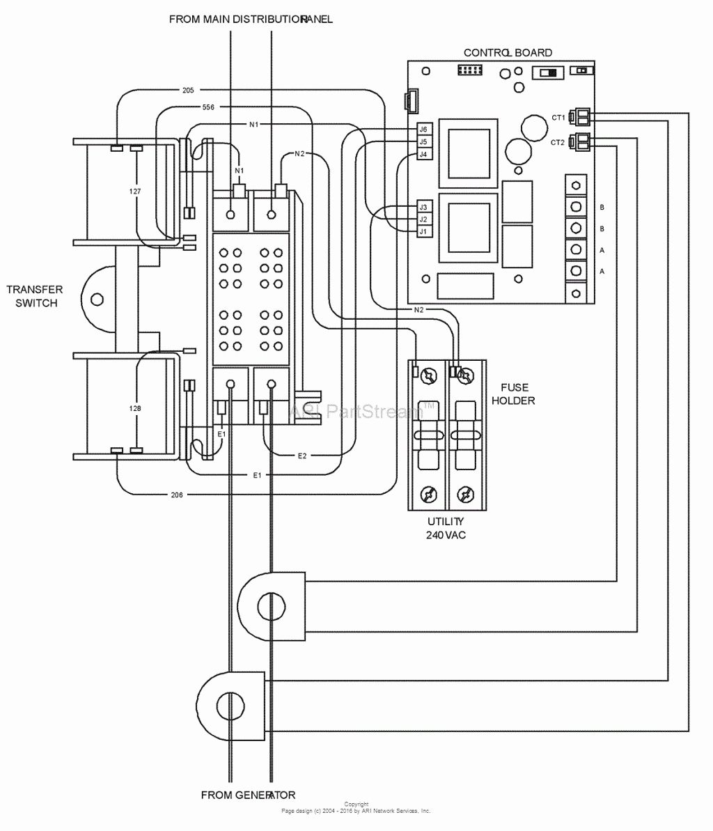 50 Amp Transfer Switch Wiring Diagram
