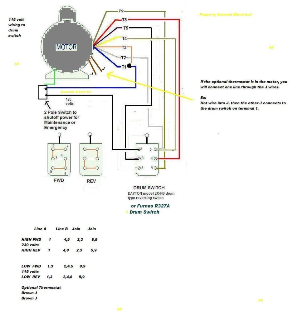 6 lead motor wiring diagram Download-Wiring Diagram For Doorbell Lighted Help Needed 5 Hp To Cutler And 3 9-e