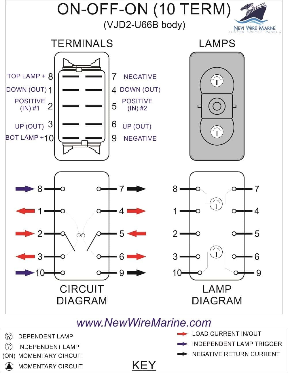 dpst toggle switch wiring diagram 6 pin dpdt switch wiring diagram | free wiring diagram 4 prong toggle switch wiring diagram #5