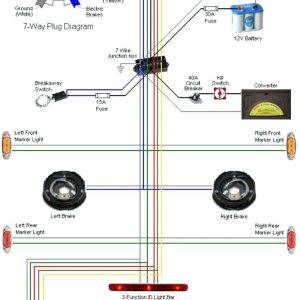 7 Pin to 4 Pin Trailer Wiring Diagram - 5 Pin Flat Trailer Wiring Diagram Best 7 Wire for with Way Roc Grp Inside 20q