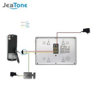 "7 Tft Lcd Monitor Wiring Diagram - Jeatone 7"" Tft Wired Video Inter Doorbell Waterproof Door Phone Outdoor Camera Monitor Video Door Phone System Home Security In Video Inter From 4c"