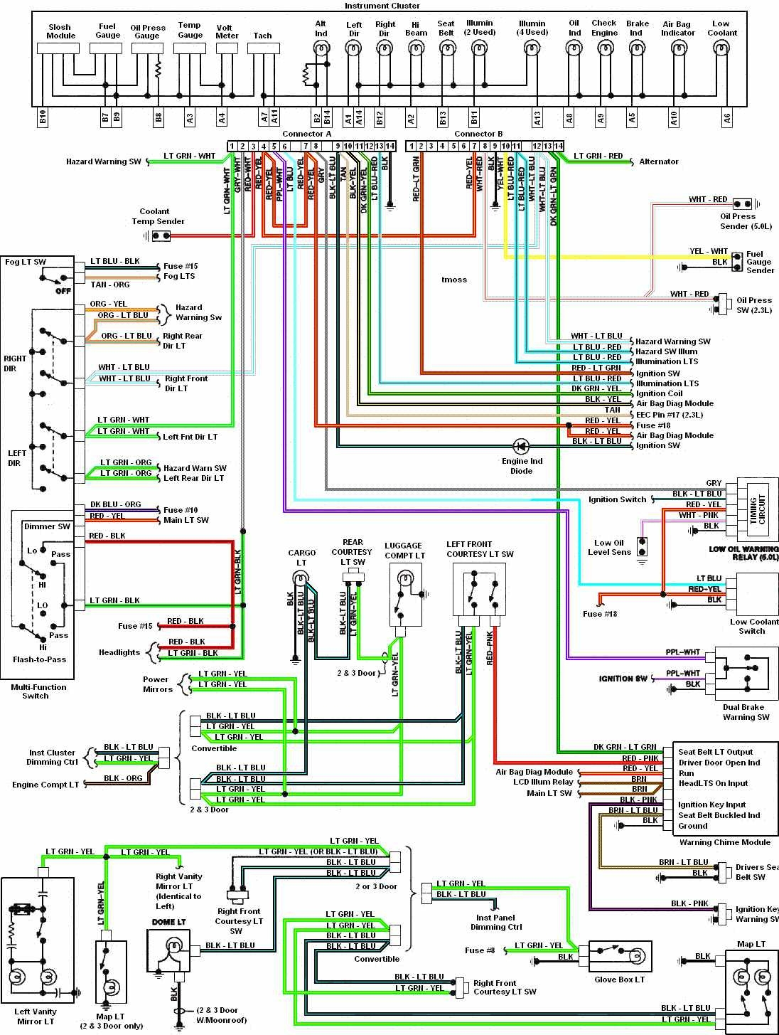 89 Mustang Radio Wiring Diagram