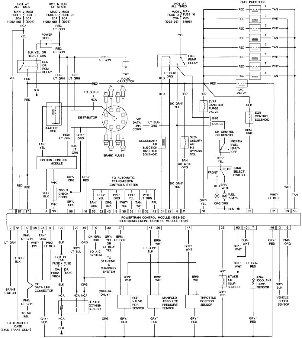 Diagram  89 Ford F 150 Turn Signal Wiring Diagram Full