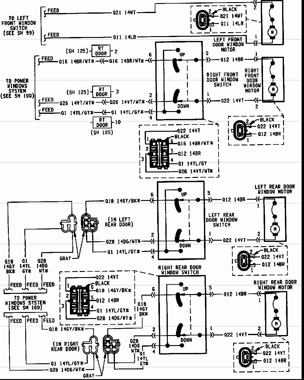 95 jeep cherokee radio wiring diagram