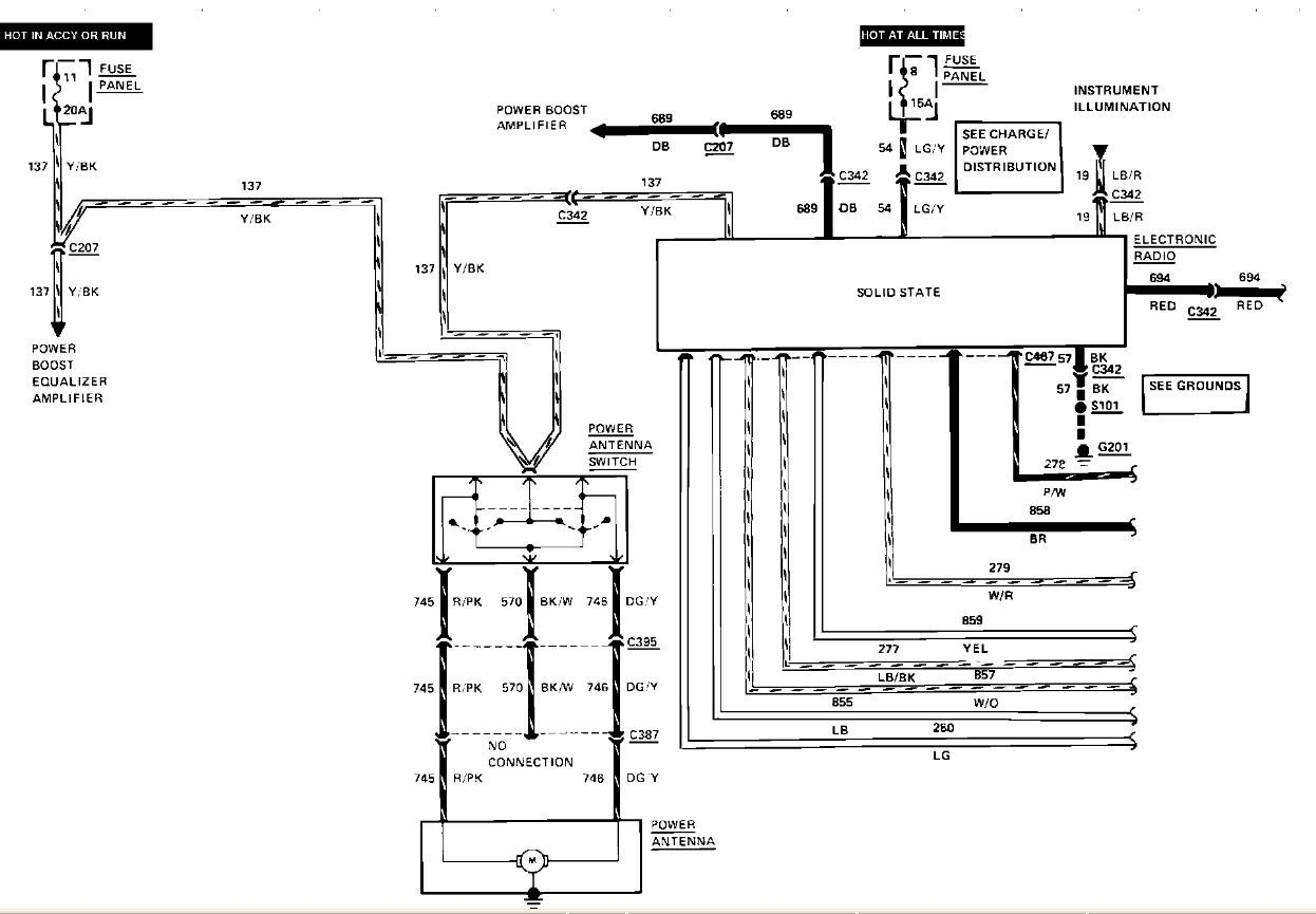 97 lincoln continental radio wiring diagram