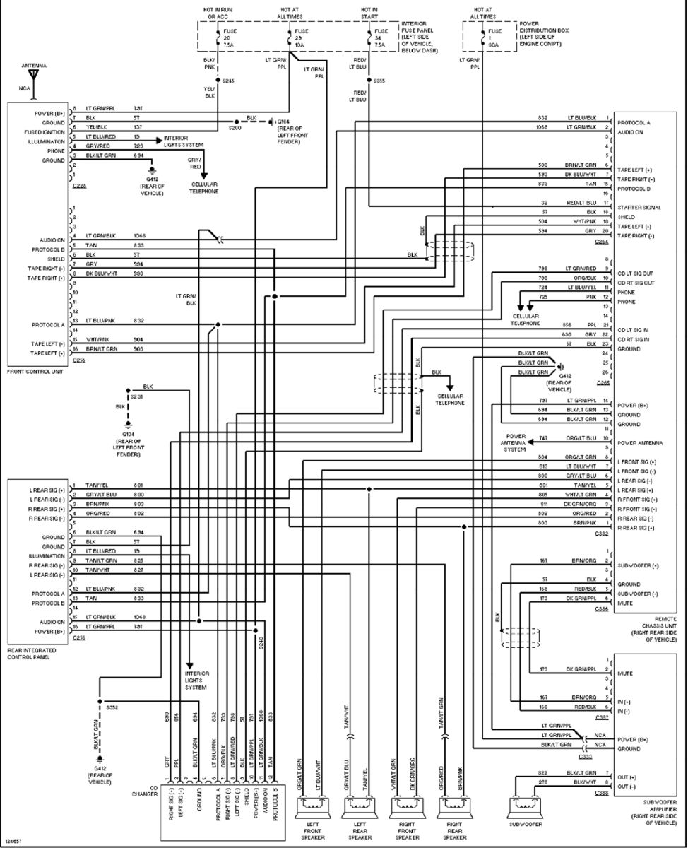 98 Ford Explorer Radio Wiring Diagram