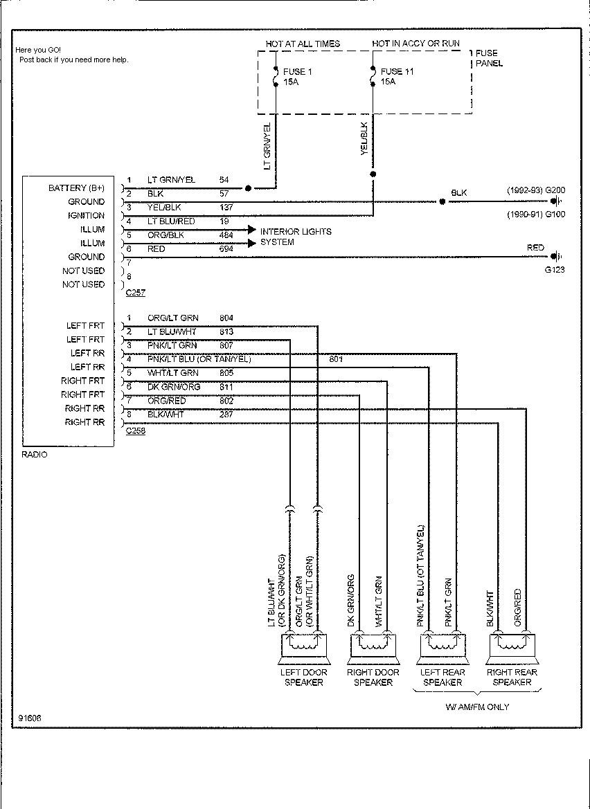 98 Ford Explorer Radio Wiring Diagram