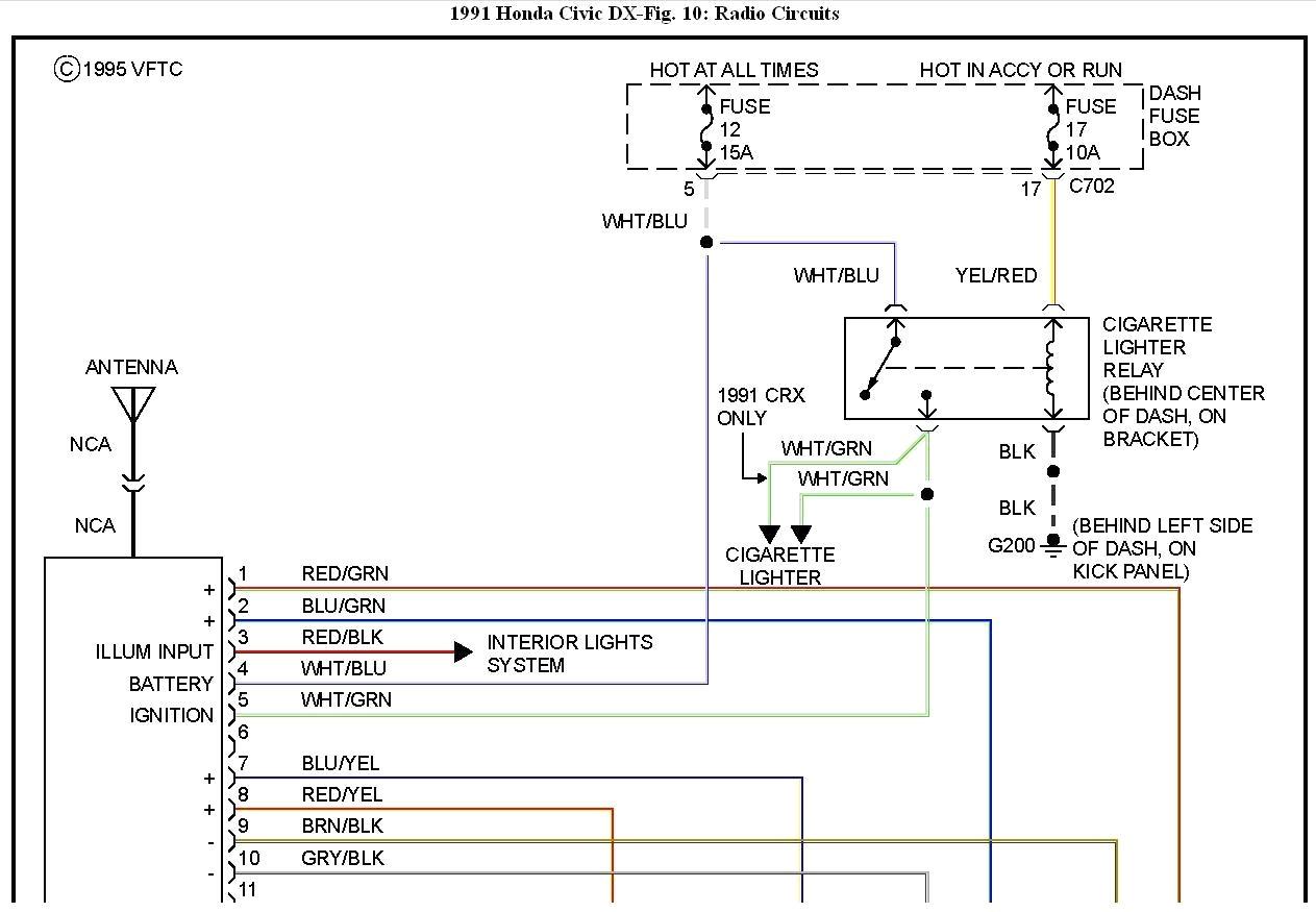 98 honda civic radio wiring diagram Download-98 Honda Civic Radio Wiring Diagram Honda Accord Radio Wiring Diagram 96 Honda Civic 8-i