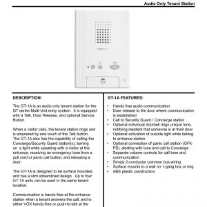 AiPhone Gt 1c7 Wiring Diagram - Index Acrobat AiPhone Brochure Index Acrobat AiPhone Brochure 18c