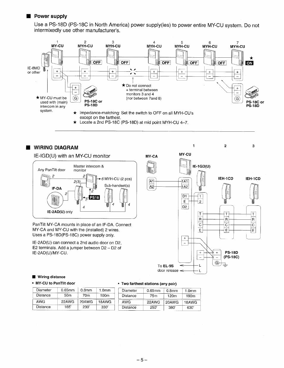 Aiphone Td 6h Wiring Diagram