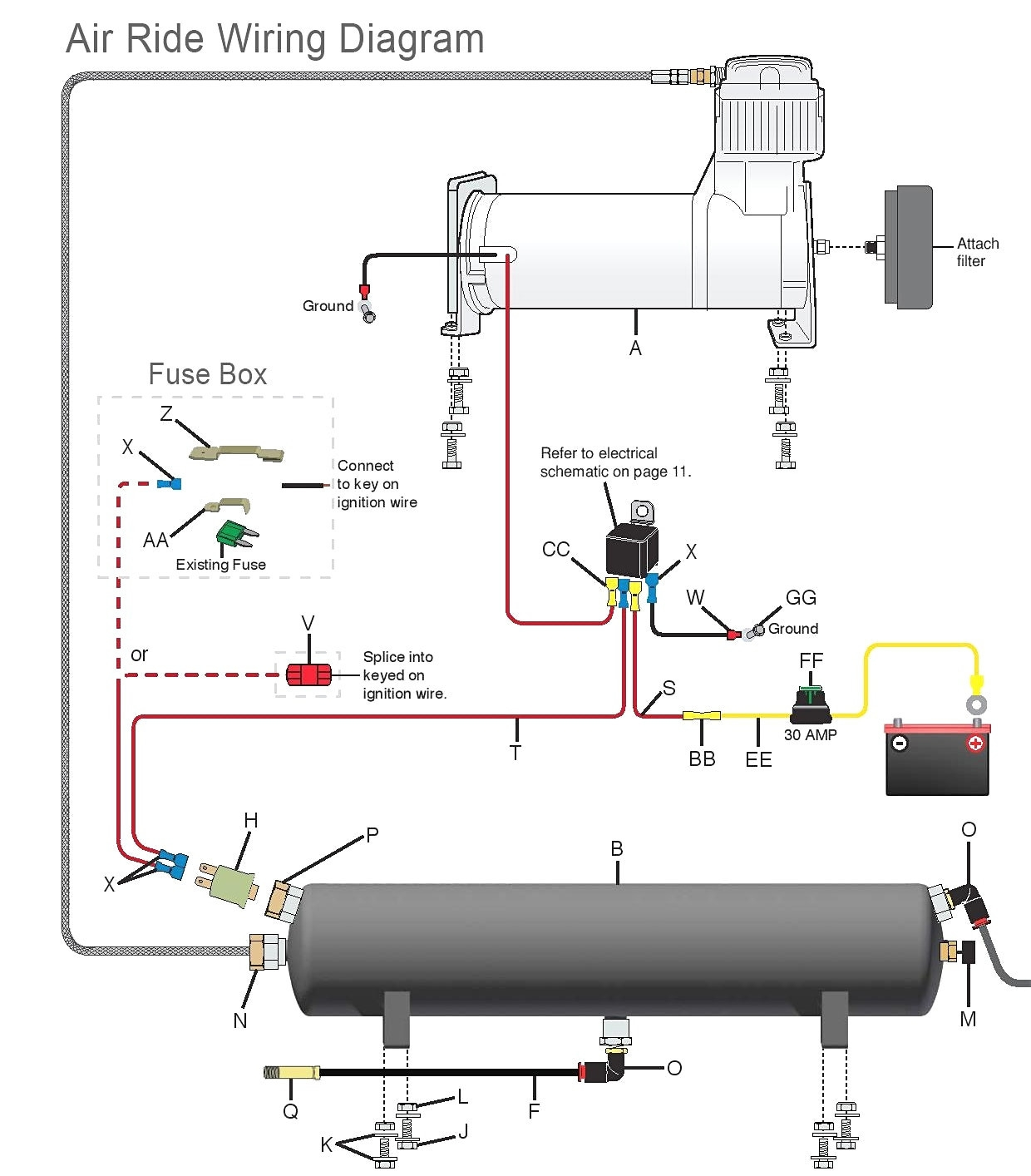Air Bag Suspension Installation Diagrams