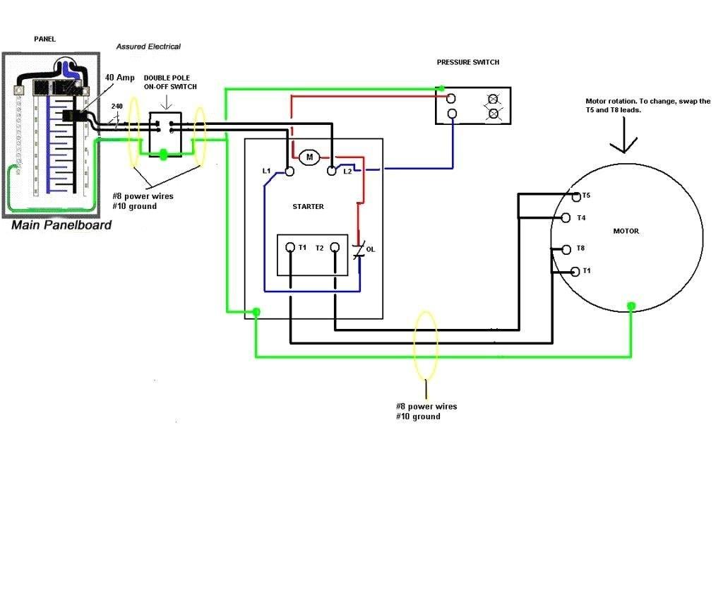 Air Compressor Pressure Switch Wiring Diagram