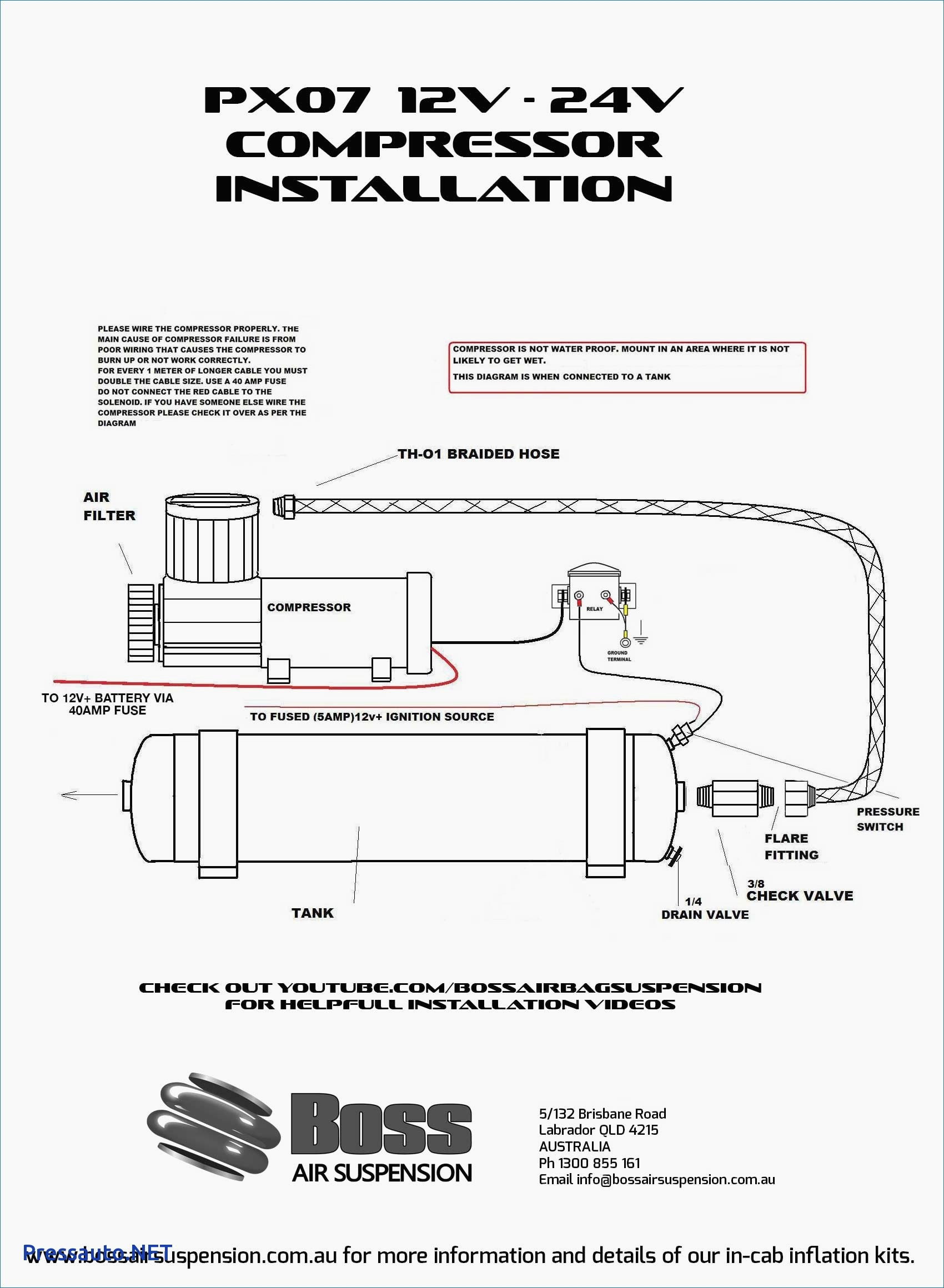 Air Compressor Pressure Switch Wiring Diagram