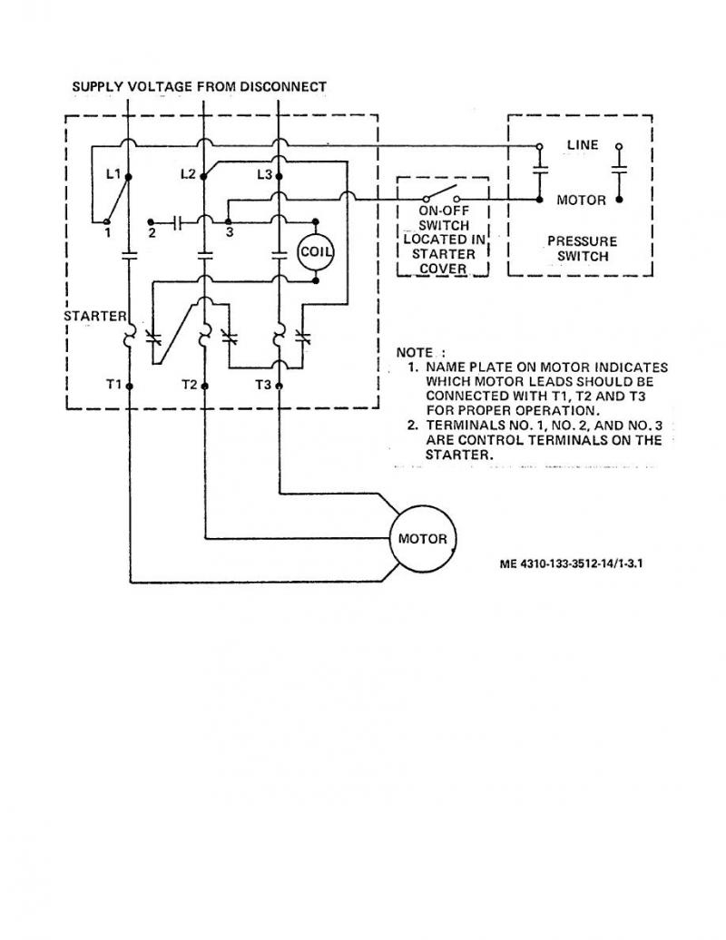 Air Compressor Wiring Diagram 230v 1 Phase Free Wiring Diagram