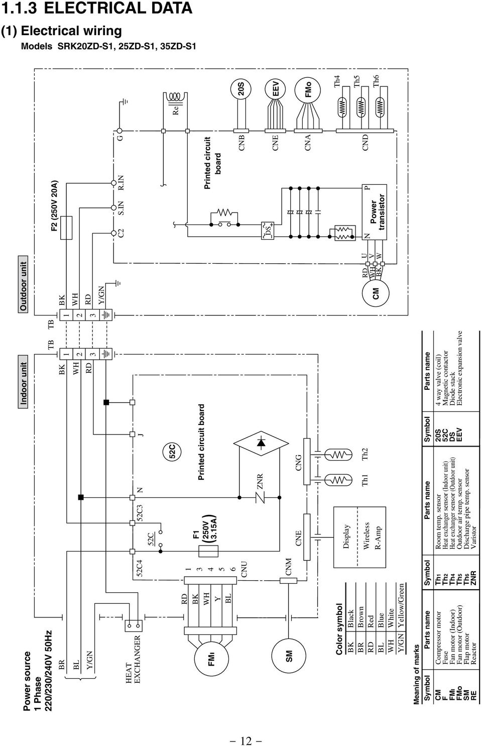 split system wiring diagrams for mitsubishi pkaa24 airtemp heat pump wiring diagram | free wiring diagram split system wiring diagram #11