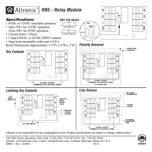 Altronix Relay Wiring Diagram - Altronix Rb5 Installation Instructions User Manual 1 Page Rh Manualsdir Altronix Rb5 Relay Board Schematic Pioneer Avh P2300dvd Wiring Diagram 18q
