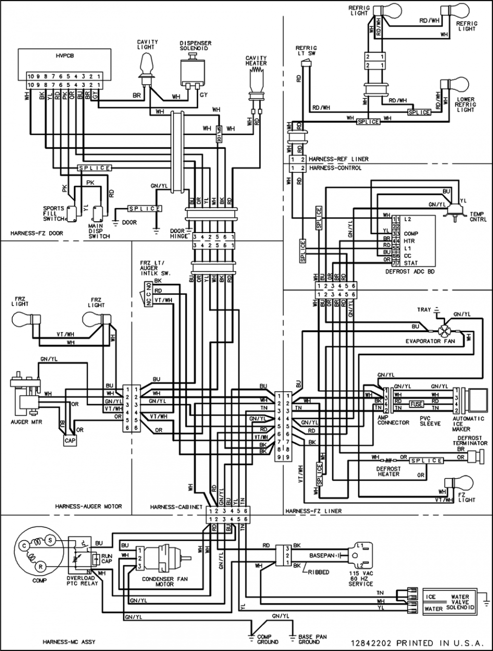 amana refrigerator wiring diagram  engine  wiring diagram images