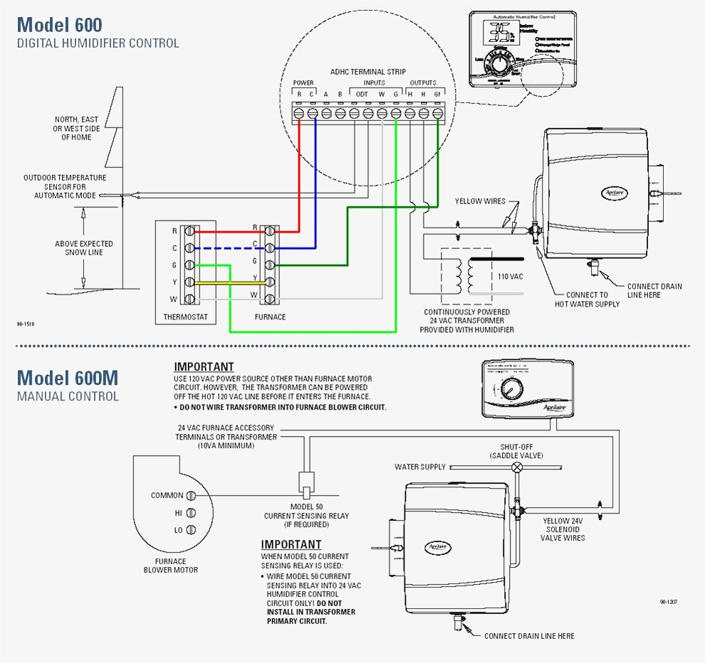 Aprilaire 600 Humidifier Wiring Diagram