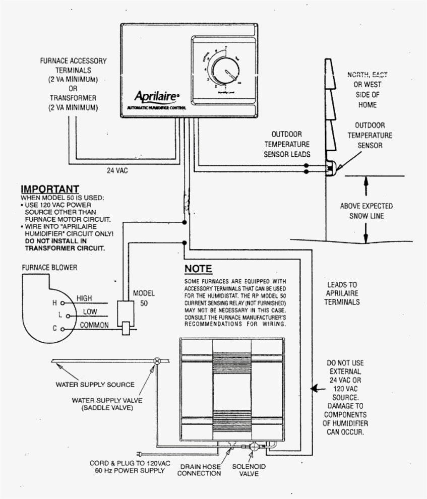 Aprilaire 700 Wiring Diagram