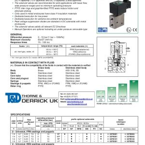 Asco solenoid Valve Wiring Diagram - asco 327 Series solenoid Valve 0 25 Direct Operated Basic Flow Valves Spec Sheet1 App02 Thumbnail 4 18s