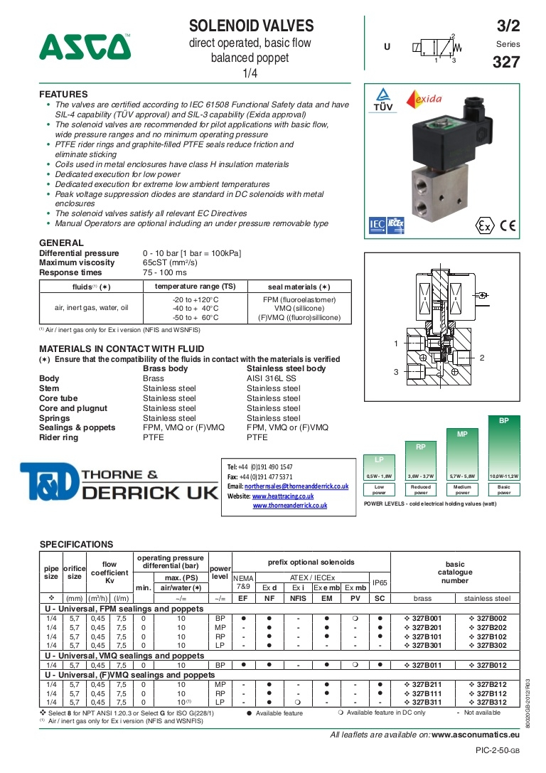 asco solenoid valve wiring diagram Collection-asco 327 series solenoid valve 0 25 direct operated basic flow valves spec sheet1 app02 thumbnail 4 17-q