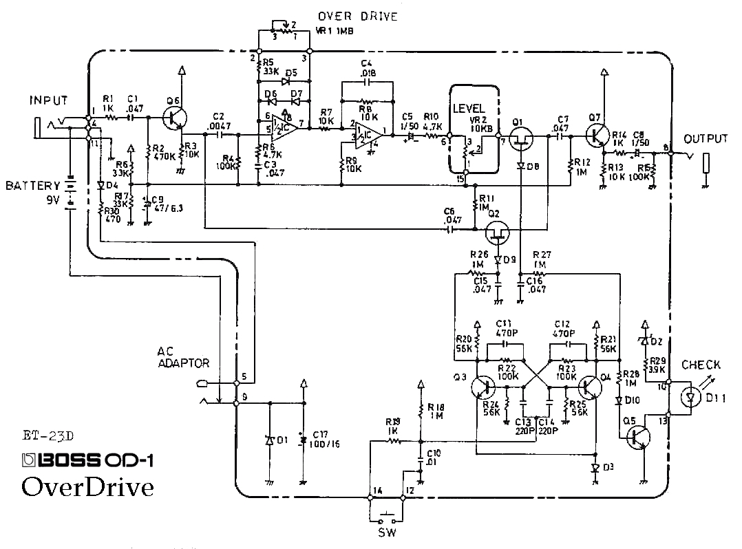 aswc 1 wiring diagram Download-Amplifier Wiring Diagram Elegant Boss Od 1 Overdrive Guitar Pedal Aswc 1 Wiring Diagram Download 2-o