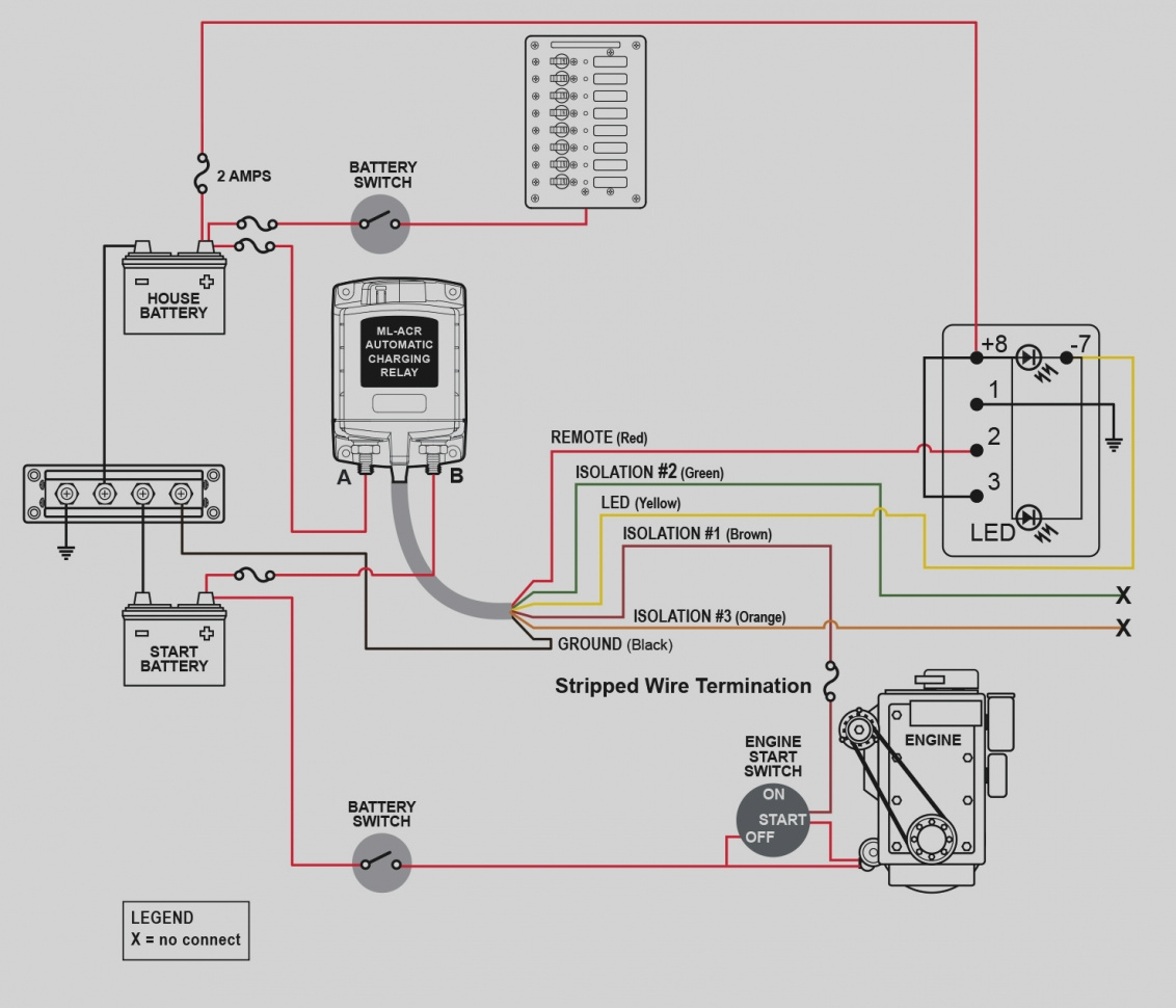 automatic charging relay wiring diagram Download-automatic charging relay wiring diagram Collection Collection Blue Sea Wiring Diagram ML ACR Automatic Charging 4-q