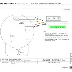 Baldor Industrial Motor Wiring Diagram - 5 Hp Electric Motor Single Phase Wiring Diagram Beautiful Single Phase Motor Wiring Diagram with Capacitor 9t