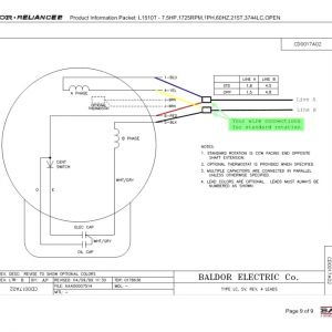 Baldor Reliance Industrial Motor Wiring Diagram - Baldor Reliance Industrial Motor Wiring Diagram New Baldor Reliance Single Phase Motor Wiring Diagram Diagrams Tearing 12j