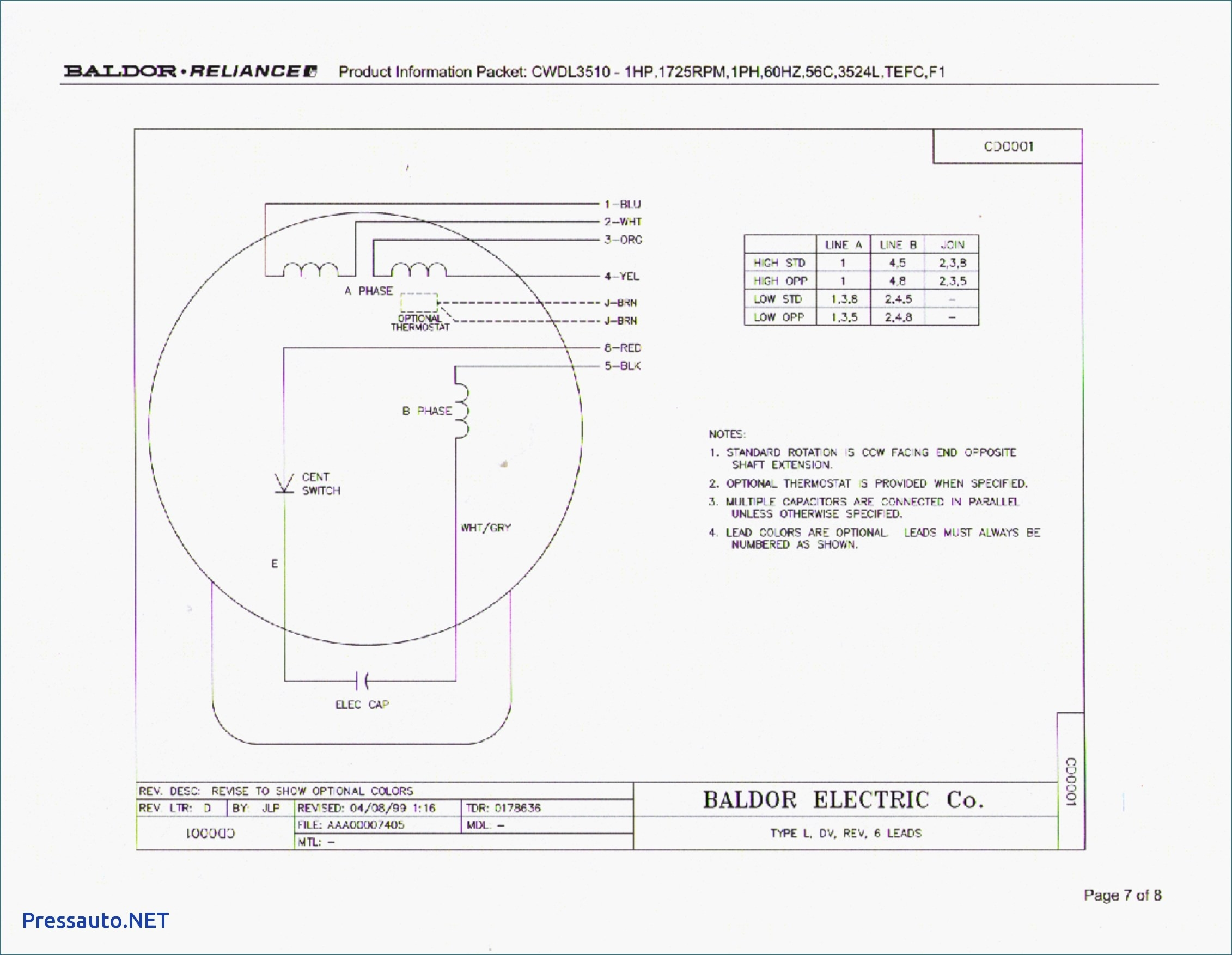 Baldor Single Phase Motor Wiring Diagram