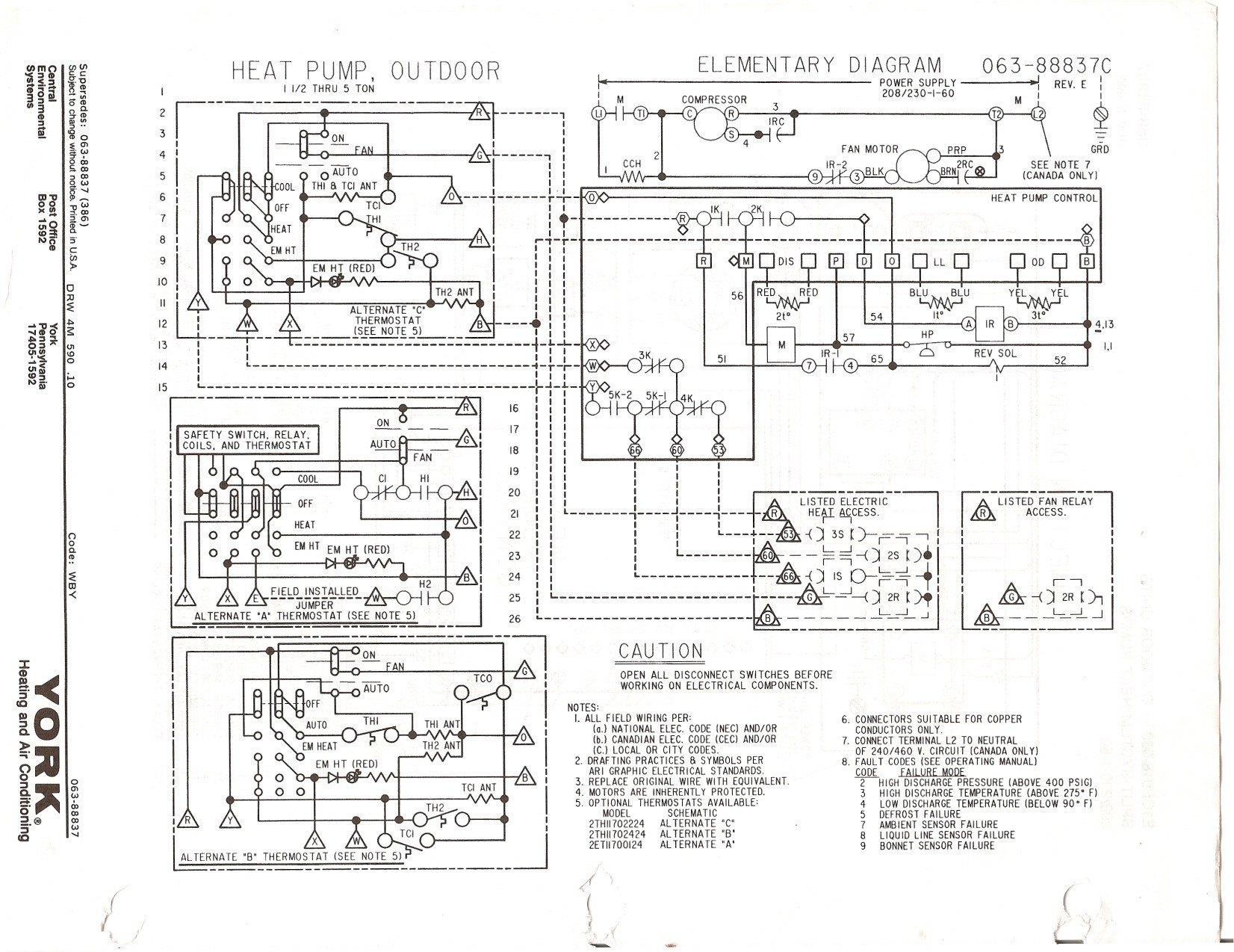 band heater wiring diagram Collection-electric heat strip wiring diagram Download Goodman Heat Pump Thermostat Wiring Diagram New Generous York DOWNLOAD Wiring Diagram 11-e