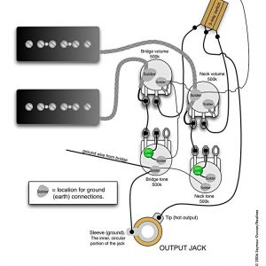 Bass Wiring Diagram 2 Volume 2 tone - P 90s 2 Vol 2 tone &switch 5n