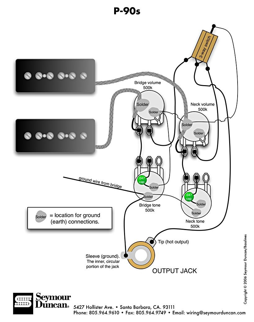 bass wiring diagram 2 volume 2 tone Download-P 90s 2 Vol 2 Tone &Switch 10-n