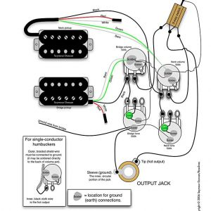 Bass Wiring Diagram 2 Volume 2 tone - Wiring Diagram for 2 Humbuckers 2 tone 2 Volume 3 Way Switch I E Traditional Lp Set Up Find More at Wiring Diagrams 17a